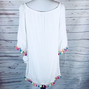 Dresses & Skirts - NWT Off Shoulder Summer Dress W/Neon Tassels